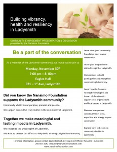 Ladysmith Community Engagement Presentation & Discussion